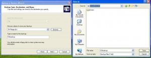 Windows XP backup progress