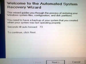 Automated system recovery