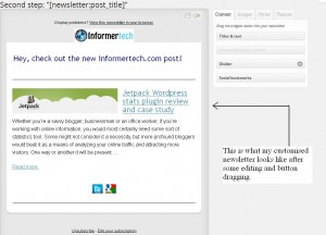 Mailpoet newsletter plugin customized design