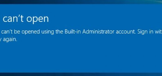 Microsoft edge cant be opened using the built in administrator account