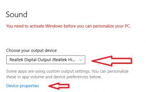 Echo in headphones Windows10