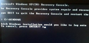 Windows XP recovery console commands