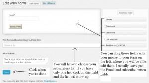 Mailpoet newsletter plugin forms