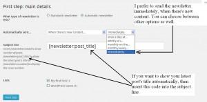 Mailpoet newsletter configuration