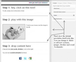 Mailpoet newsletter design editing